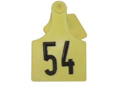 earmark Primaflex 3 marcas auriculares para ganado bovino single number Selection números sueltos