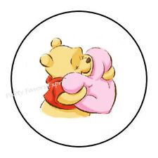 """ENVELOPE SEALS LABELS STICKERS 1.2/"""" ROUND 48 Pooh Face !"""