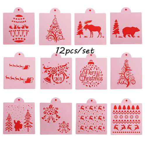 Decorative Scrapbooking Merry Christmas Embossing Template Layering Stencils
