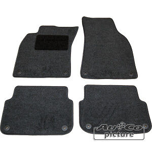 Kit-4-Tappeti-Tappetini-in-tessuto-specifici-X-Audi-A6-4F