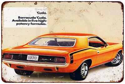 Metal Sign Vintage Look Reproduction 2 1968 Plymouth Barracuda