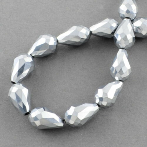 Gota 6 x 4 mm abalorios polished checa cristal joyas chapucillas elecciones
