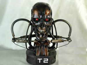 Terminator T2 T-800 Endoskeleton Resin Statue Skull Statuette Figure Collectible