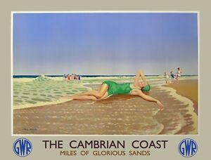 TX275-Vintage-The-Cambrian-Coast-GWR-Railway-Travel-Poster-Re-Print-A2-A3-A4
