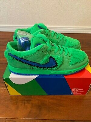 Grateful Dead X Nike SB Dunk Low Size 12 Authentic Green Bear In ...
