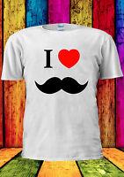 I Love Heart Moustache Tumblr Funny T-shirt Vest Tank Top Men Women Unisex 1298