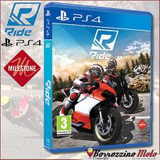 NUOVO GIOCO ORIGINALE RIDE PS4 PLAYSTATION SONY MOTO SIMULAZIONE MULTIGIOCATORE