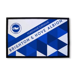 Infatigable Brighton & Hove Albion F.c - Personnalisé Porte Mat (motifs)-afficher Le Titre D'origine