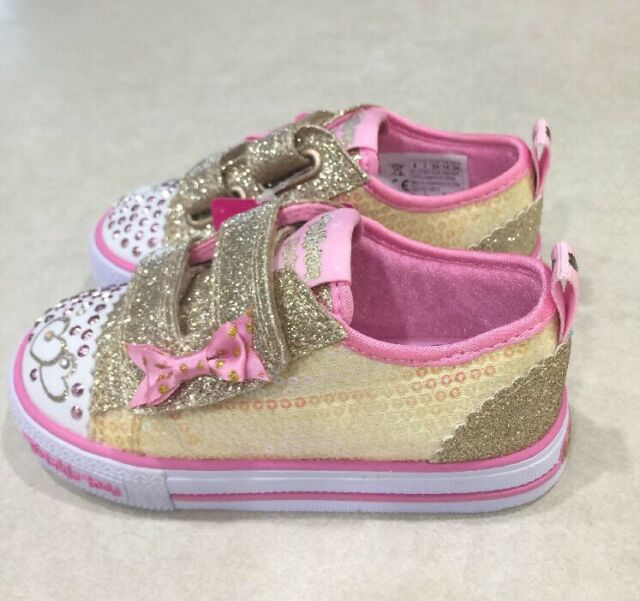Twinkle Toes Gold \u0026 Pink Shoes~~Size