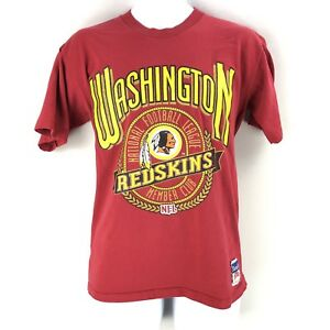 Vtg-Nutmeg-Mills-Mens-Washington-Redskins-NFL-T-Shirt-Large-Red-Short-Sleeve-USA