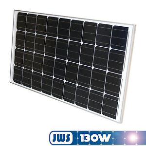 panneau solaire module solaire 130w 130 w 12v 12 volts monocristallin ebay. Black Bedroom Furniture Sets. Home Design Ideas