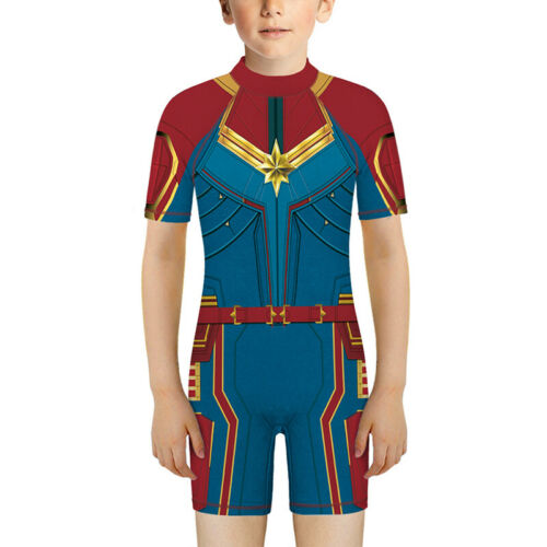 Boys Girls Kids Marvel Avengers Swimsuit Swimming Costume One Piece Swimwear New