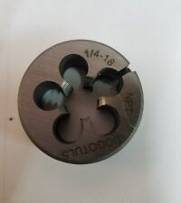 "1//4/""-18 NPT X 1 1//2/"" DIAM.EXTERIOR STEEL ROUND ADJUSTABLE DIE"