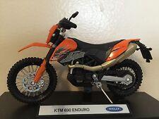 KTM 690 Enduro Motorcycle 1/18 690Enduro 690cc cc Dirt Bike Motocross Welly