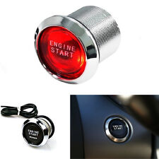 Car SUV Keyless Engine Ignition Start Switch Red LED Power Starter Push Button