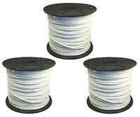 Electric Fence / Fencing Rope White 3 X 400 Meters 6mm