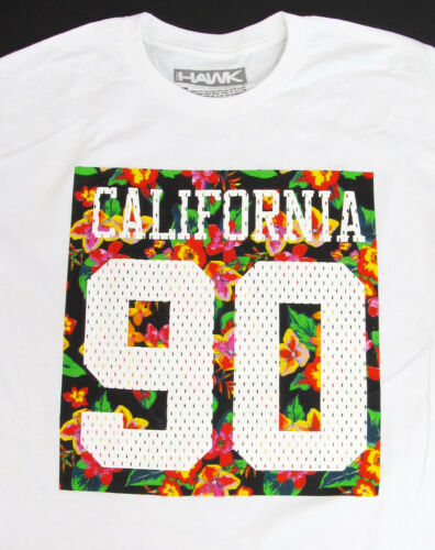 Tony HAWK T-shirt Hawaiian Tropical Floral #90 Tee Adult Mens 2XL XXL White New