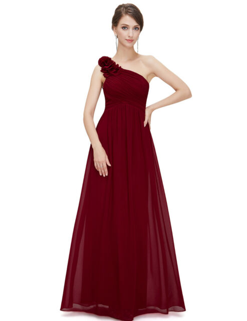 Ever-Pretty US Long Bridesmaid Dress One Shoulder Formal Evening Prom Gown 08237