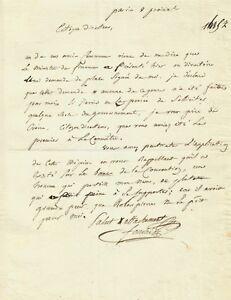 Joseph-FOUCHE-Lettre-autographe-signee-Le-souvenir-de-ROBESPIERRE-Revolution