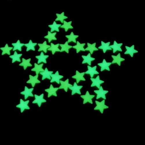 100 3D Mur Glow in the Dark Stars Stickers Enfants Chambre Nursery Room Decor