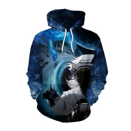 Mysterious Black Hole 3D Print Men Women Hoodie Sweatshirt Pullover Jumper Coat