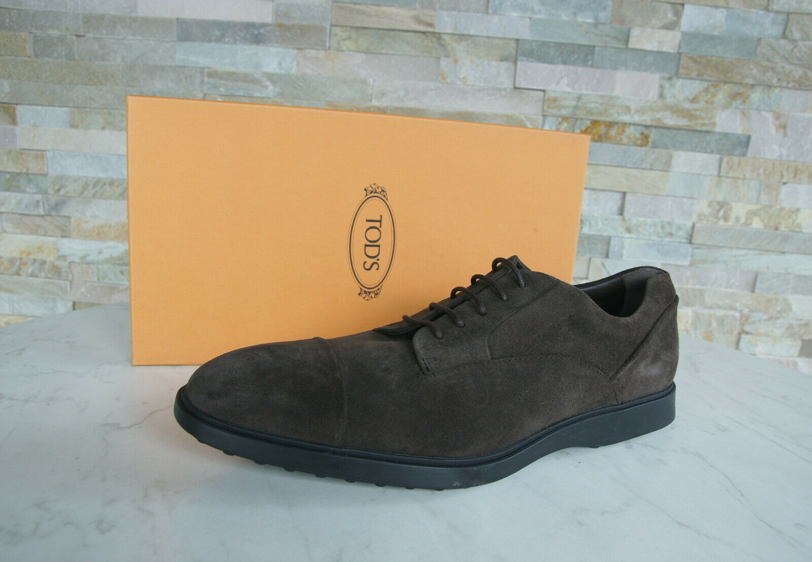 Tod S Gr 45 11 Lace up Low shoes Dark Brown New Formerly Rrp