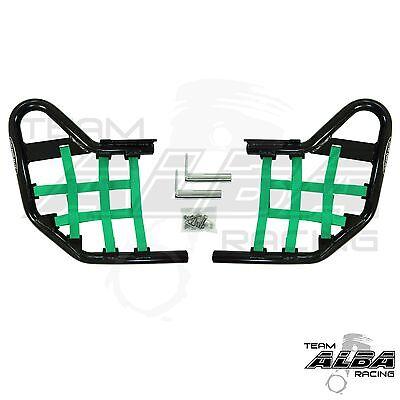 Yamaha Banshee YFZ350 YFZ 350 Nerfbars Atv Nerf Bars Black Bars//Black Nets
