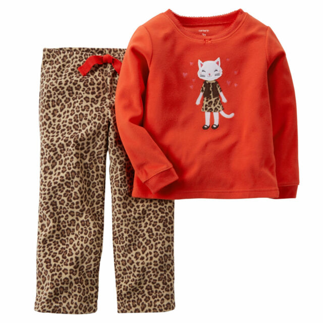 83c5e4843 NWT ☀FLEECE☀ CARTERS Girls Pajamas New BEAR 2T  22