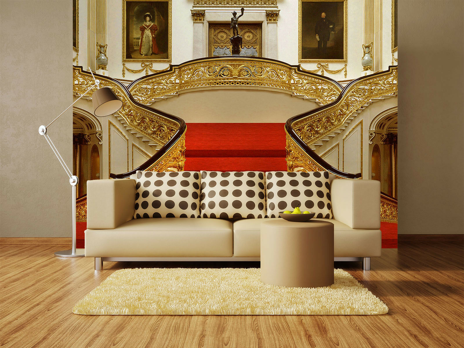 3D Red Carpet Stairs 5 Wall Paper Wall Print Decal Wall Deco Indoor Mural Carly