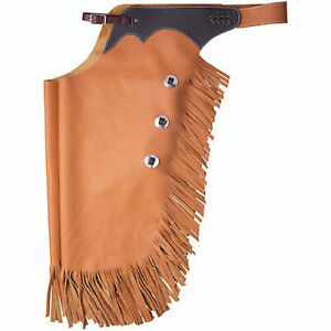 Tough1-Premium-Smooth-Leather-Work-Chinks-Tan-Horse-Tack-Equine