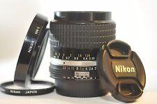 Nikon Nikkor 28mm f/2 AI-S PRIME Fast wide CRC lens HN-1 for FM2 F3 F5 DF D750