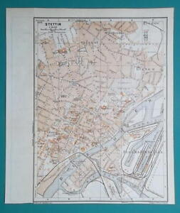 Printable Map Of Germany With Cities And Towns.1936 Map Germany German Reich Poland Szczecin Lubeck Town City