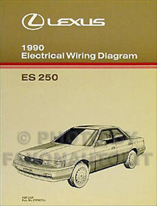 1990 lexus es 250 wiring diagram manual 90 es250 oem electrical Lexus IS 250 Water Pump image is loading 1990 lexus es 250 wiring diagram manual 90