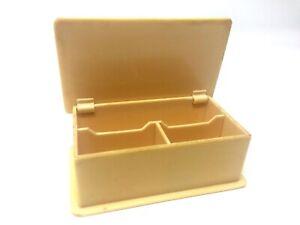Vintage-Mid-Century-Modern-Yellow-Celluloid-Bakelite-Plastic-Trinket-Box