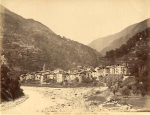 France-Saint-Sauveur-Vallee-de-la-Tinee-Vintage-albumen-print-Tirage-albu