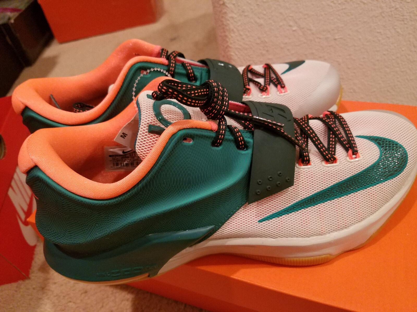 Nike Nike Zoom Kevin Durant 7 Green White orange Gum  Men's SZ 10.5