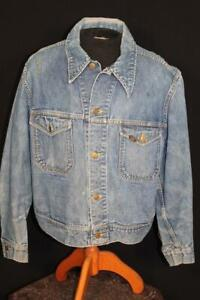 VINTAGE 1970'S-1980'S CLASSIC LEE BLUE DENIM JACKET SIZE EXTRA LARGE
