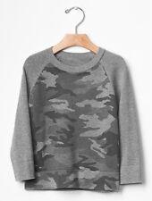 GAP Baby / Toddler Boy Size 3T / 3 Years NWT Gray Camo Raglan Sweater Sweatshirt