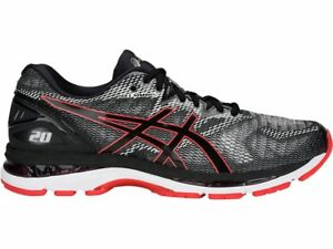 Asics Gel-Nimbus 20 Black White Red Men Running Shoes D Width T800N ... 48aa61ffcf100