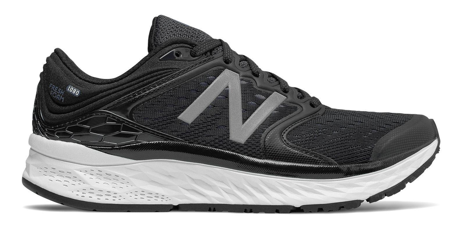 New Balance Women's Fresh Foam Midsole 1080V8 Running shoes Black With White