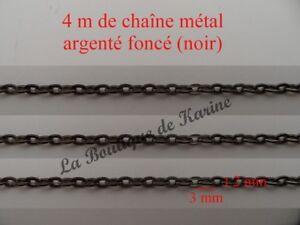 2 M DE CHAINE METAL CUIVRE TRES FINE 5 x 3 mm CREATION BIJOUX PERLES