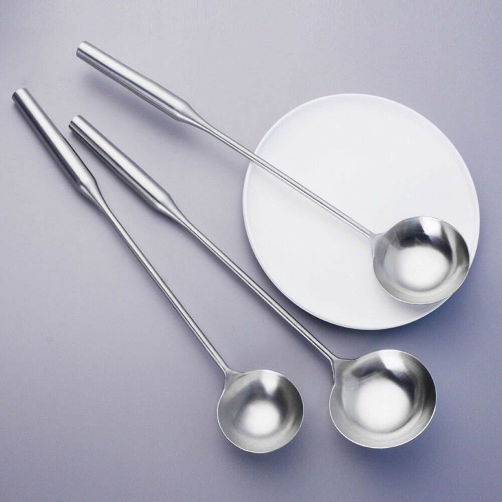 Stainless Steel Long Handle Soup Dishes Ladle Spoon Cooking Utensils Novelty Cooking Utensils