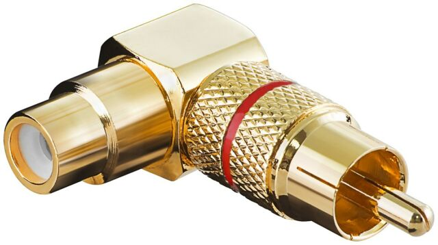goobay 2 Piece audio-adapter RCA Jack > RCA Jack Gold Plated