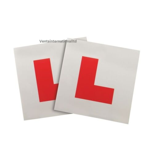 New 2PC L Plates Magnetic Leaner Driver Weatherproof Tear Resistant Car Plate