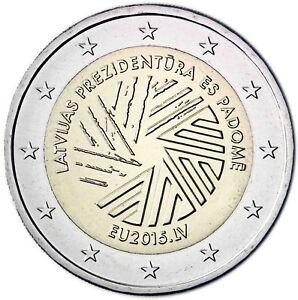 Lettland-2-Euro-EU-Ratspraesidentschaft-2015-bankfrische-Gedenkmuenze
