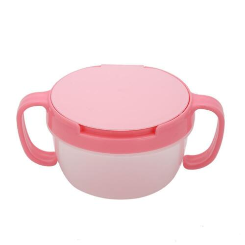 Baby Snack Bowl Food Container Feeding Infants Kid Spill Proof Dishes Tableware