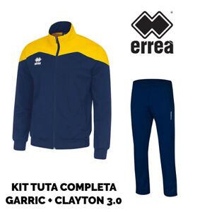 Man 0 Clayton jas Garric Full Suit broek 3 Errea blauw gele E4zqxwH