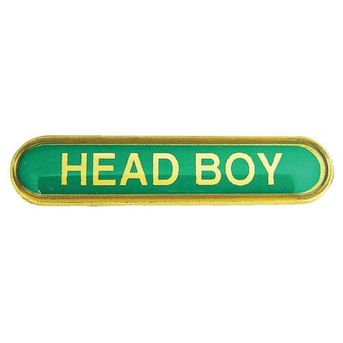 Yellow Blue Head Boy Bar School Badges Red Green Orange