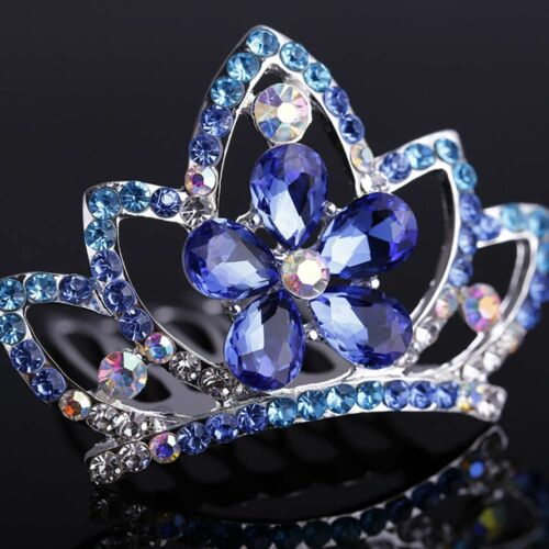 Mini Flower Crystal Tiaras Crown Hair Comb Princess Headpieces