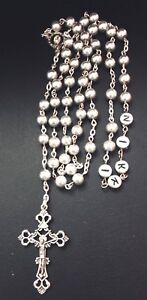 Baptism Gift PERSONALISED Handmade Red Glass Rosary beads New baby,Christening